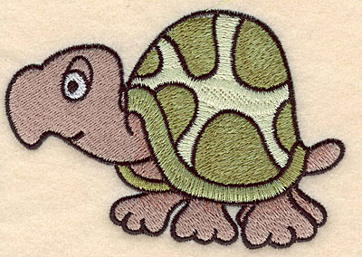 """Embroidery Design: Turtle large 4.58""""w X 3.17""""h"""