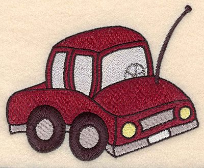 """Embroidery Design: Car large 5.00""""w X 4.14""""h"""