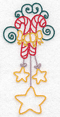 Embroidery Design: Candy canes large 2.35w X 4.97h