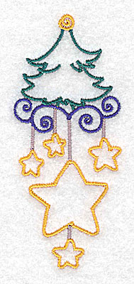 Embroidery Design: Christmas tree small 1.67w X 3.88h