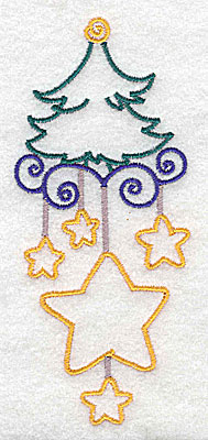 Embroidery Design: Christmas tree large 2.14w X 4.97h