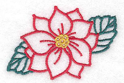 Embroidery Design: Poinsettia 2.75w X 1.81h
