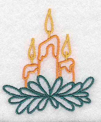Embroidery Design: Christmas candles2.17w X 2.52h