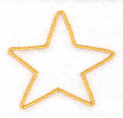 Embroidery Design: Christmas star 2.03w X 1.87h