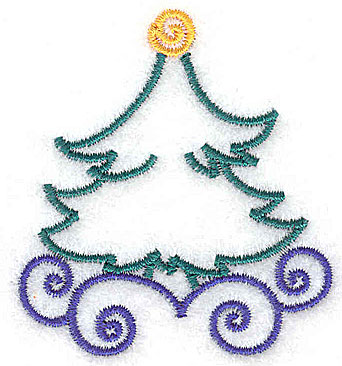 Embroidery Design: Christmas tree 2.10w X 2.34h