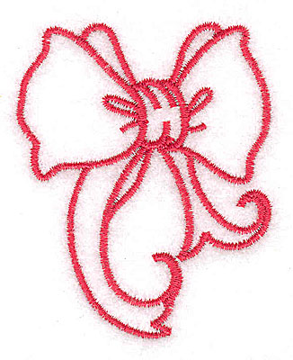 Embroidery Design: Christmas bow 2.13w X 2.65h