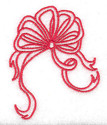 Embroidery Design: Christmas bow and ribbons 2.50w X 3.14h