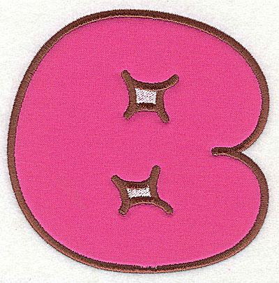 Embroidery Design: B applique 3.50w X 3.50h
