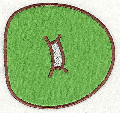 Embroidery Design: D applique large 7.38w X 7.06h