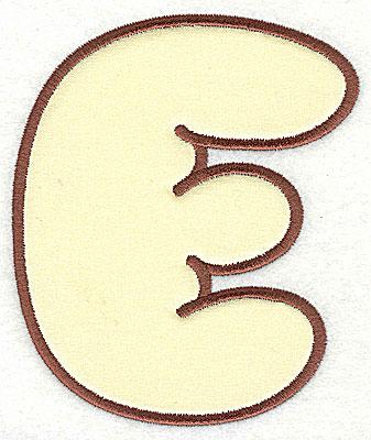 Embroidery Design: E applique large 5.88w X 7.06h