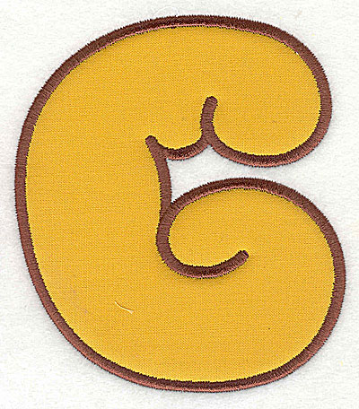 Embroidery Design: G applique 3.06w X 3.50h