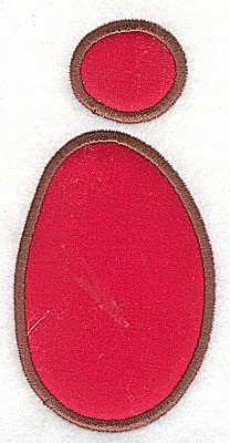 Embroidery Design: I applique 1.75w X 3.50h