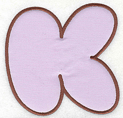 Embroidery Design: K applique medium 5.94w X 5.88h