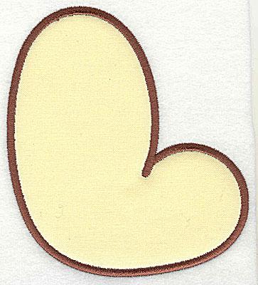 Embroidery Design: L applique large 6.31w X 7.06h