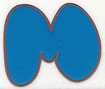 Embroidery Design: M applique large 8.31w X 7.06h