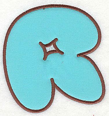 Embroidery Design: R applique 3.31w X 3.50h