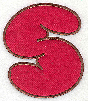 Embroidery Design: S applique 3.00w X 3.50h