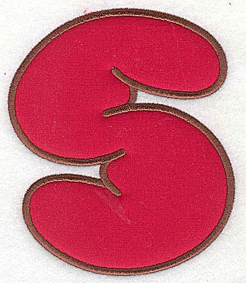 Embroidery Design: S applique large 6.00w X 7.06h
