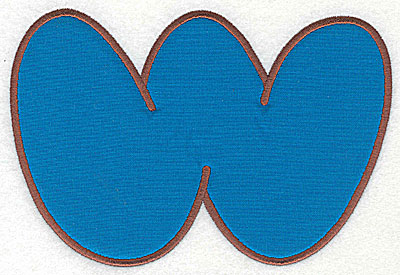 Embroidery Design: W applique large 10.38w X 7.06h