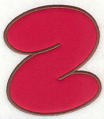 Embroidery Design: Z applique small 4.19w X 4.69h