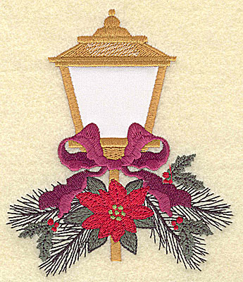 Embroidery Design: Outdoor lamp applique large 4.20w X 4.95h