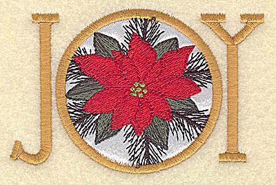 Embroidery Design: Joy applique 3.84w X 2.51h