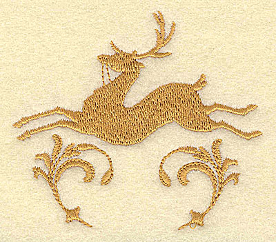 Embroidery Design: Deer 3.05w X 2.70h