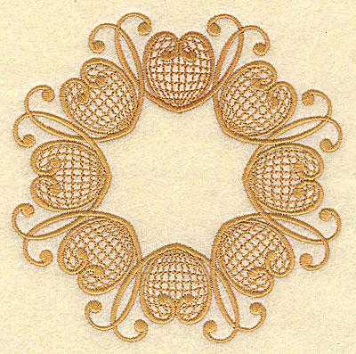 Embroidery Design: Circular christmas design 4.98w X 4.98h