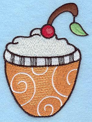 "Embroidery Design: Dessert large  4.00""h x 2.94""w"