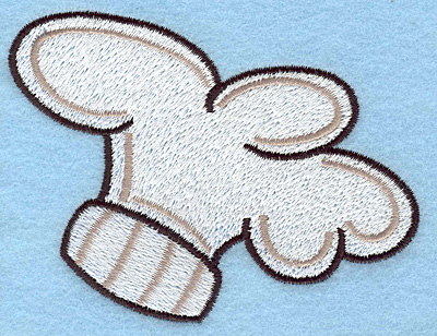 """Embroidery Design: Chef's hat large  3.11""""h x 4.00""""w"""
