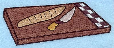 "Embroidery Design: Cutting board large  1.94""h x 4.99""w"