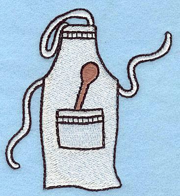 """Embroidery Design: Apron  3.50""""h x 3.23""""w"""