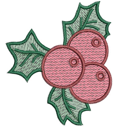 Embroidery Design: Mistletoe 2.99w X 3.53h