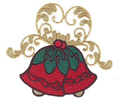 Embroidery Design: Christmas bells 3.87w X 3.46h