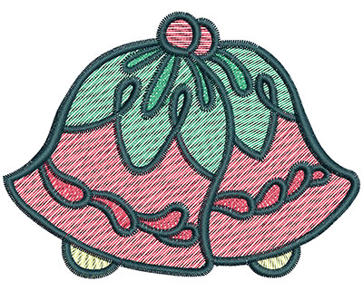 Embroidery Design: Christmas bells 3.84w X 2.88h