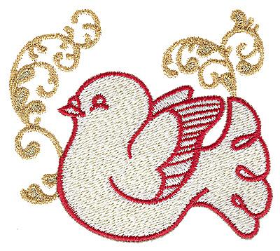Embroidery Design: Dove 3.54w X 3.12h