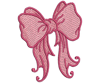 Embroidery Design: Christmas ribbon 3.35w X 4.28h