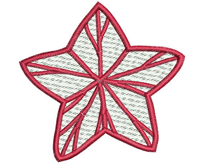 Embroidery Design: Christmas star 2.92w X 2.83h