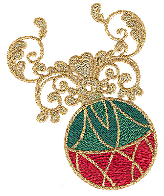 Embroidery Design: Christmas ornament 3.04w X 3.84h