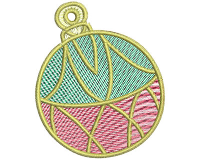 Embroidery Design: Christmas ornament 2.58w X 3.13h