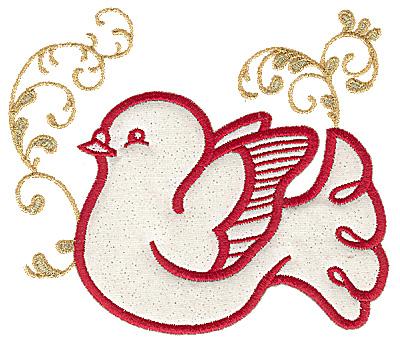 Embroidery Design: Dove applique 5.78w X 4.96h