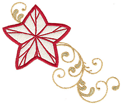 Embroidery Design: Christmas star applique 5.97w X 4.93h