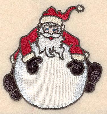 """Embroidery Design: Santa on globe small3.53""""H x 3.59""""W"""