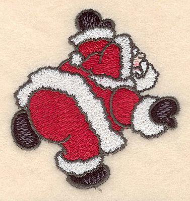 """Embroidery Design: Santa Claus small3.05""""H x 2.82""""W"""