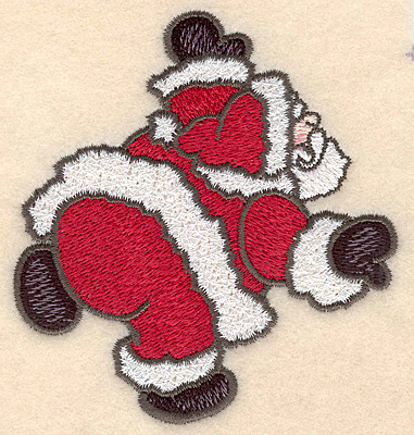 """Embroidery Design: Santa Claus large3.95""""H x 3.66""""w"""