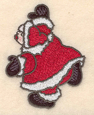 """Embroidery Design: Mrs. Claus small3.08""""H x 2.34""""W"""