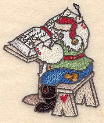 Embroidery Design: Santa writing list small 3.42w X 3.90h