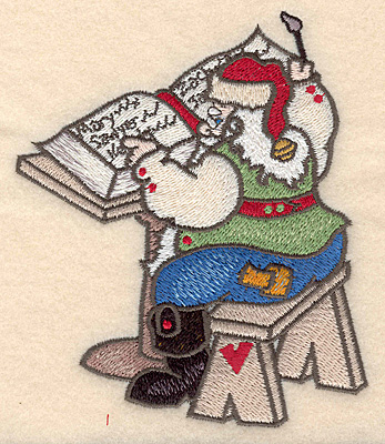 Embroidery Design: Santa writing list large4.36w X 5.00h