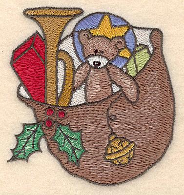 Embroidery Design: Santa's sack small3.37w X 3.56h