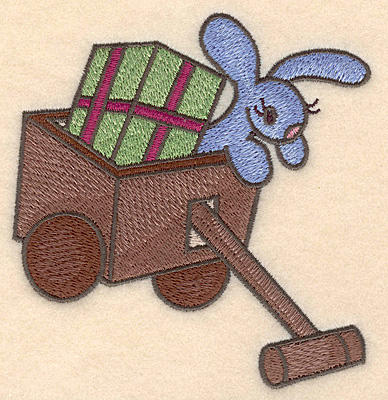 Embroidery Design: Toy wagon large4.35w X 4.55h